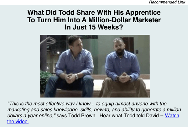 Todd Brown's Apprentice