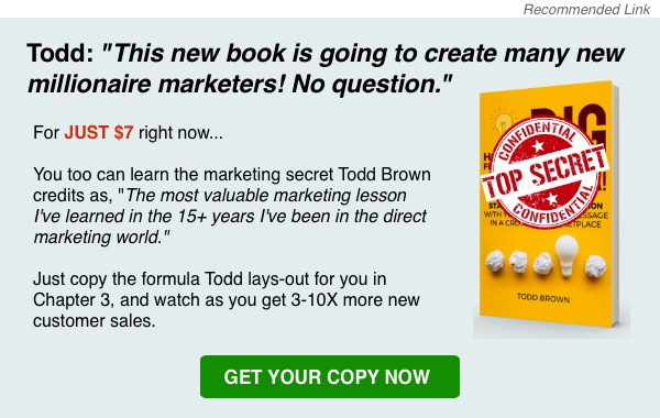 How To Find Your Big Marketing Idea by Todd Brown