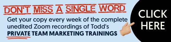 Todd Brown's Internal Marketing Calls