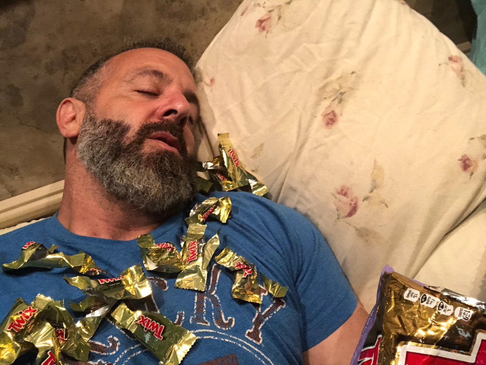 Todd Brown Eating An Excessive Amount Of Twix Bars
