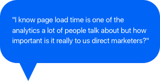 Page load speed for marketers