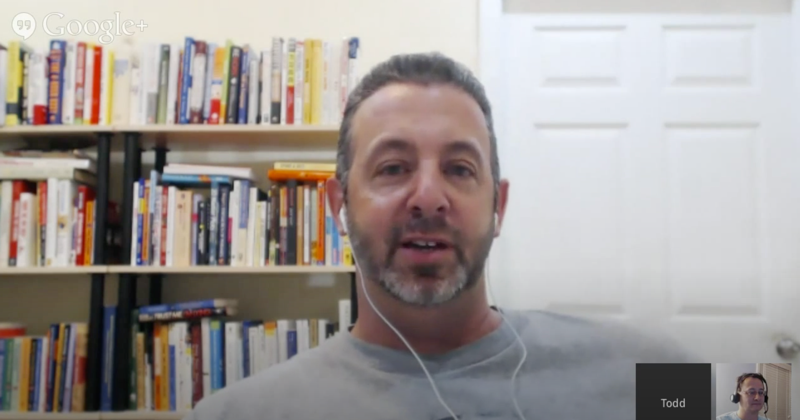 Todd Brown first Google Hangout