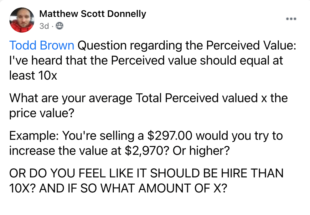 Marketing Question for Todd Brown