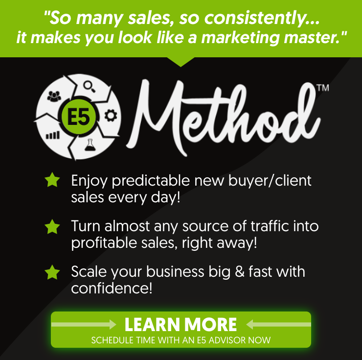 Todd Brown's E5 Method Banner
