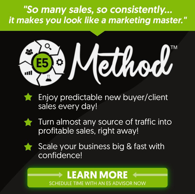 Todd Brown's E5 Method Banner