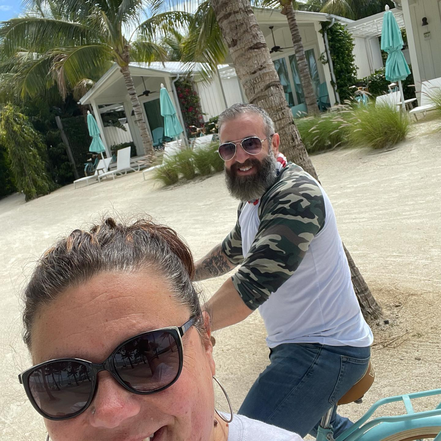 Kellie and I Riding Bikes In The Keys