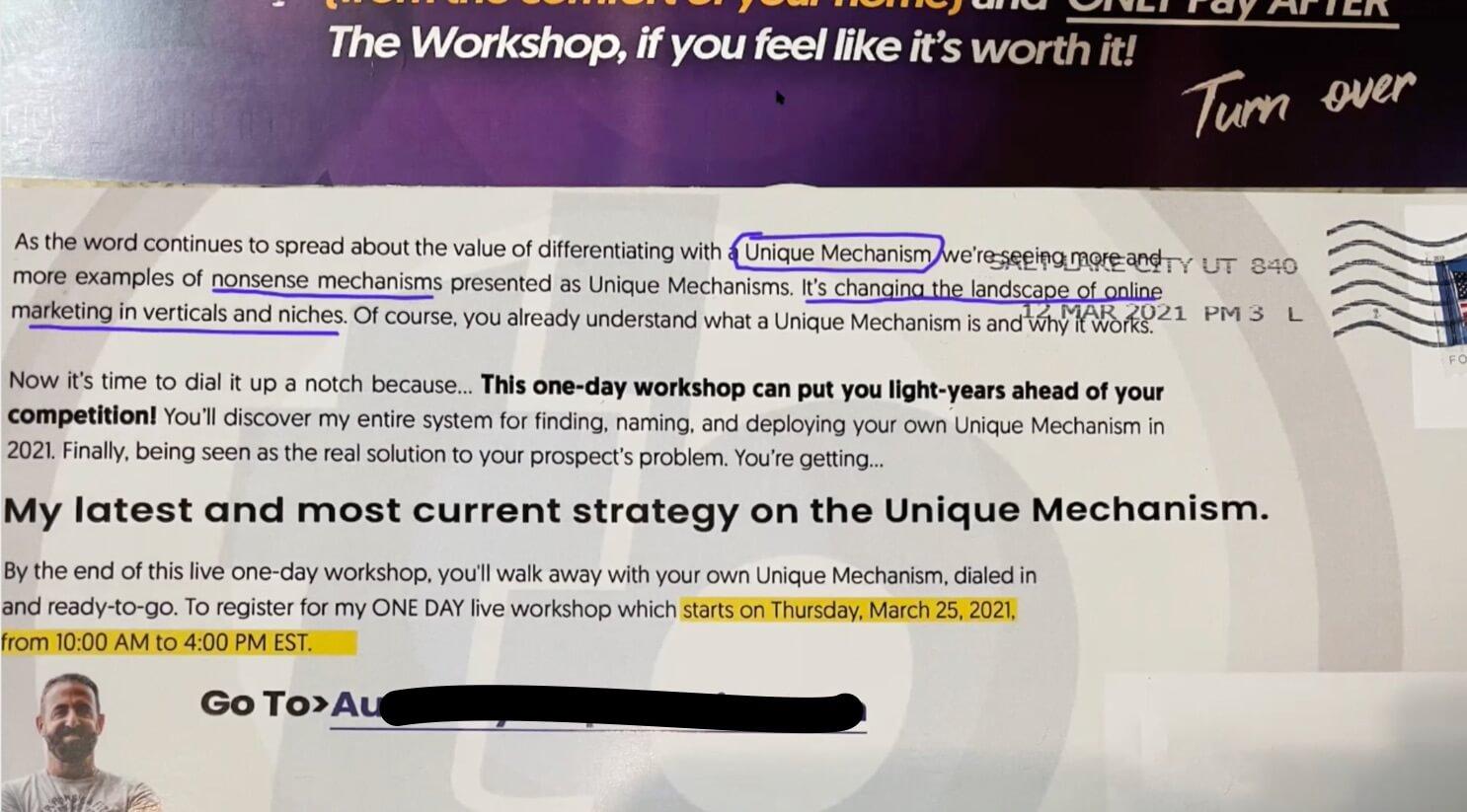 Unique Mechanism Workshop Todd Brown