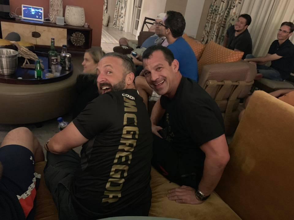 Todd Brown in McGregor Shirt