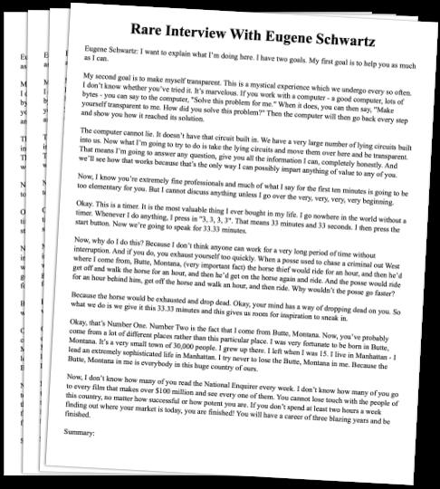 Eugene Schwartz Interview