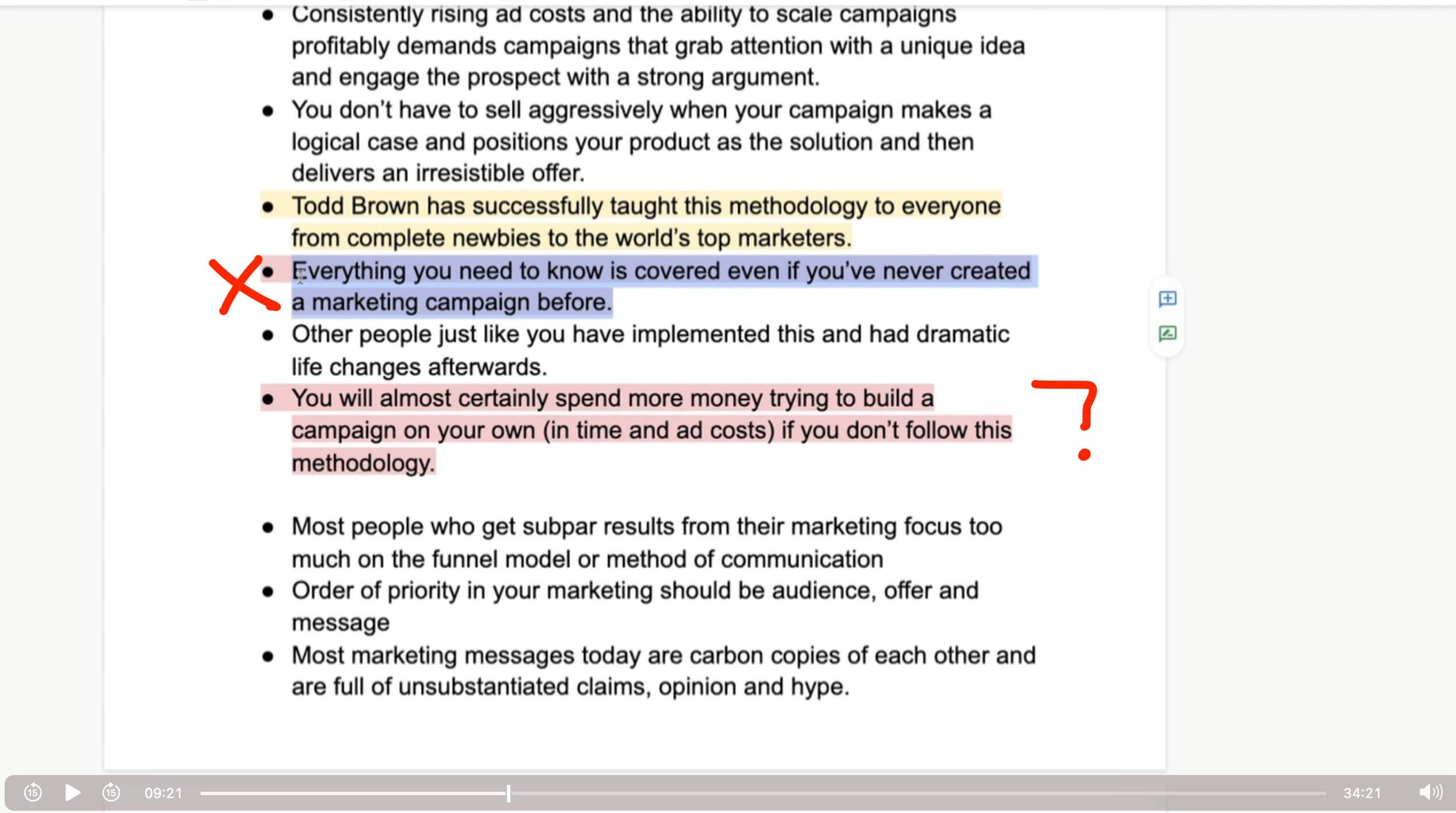 Todd Brown Marketing Team Training 62921