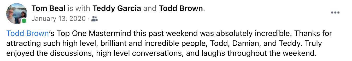 Todd Brown Endorsement