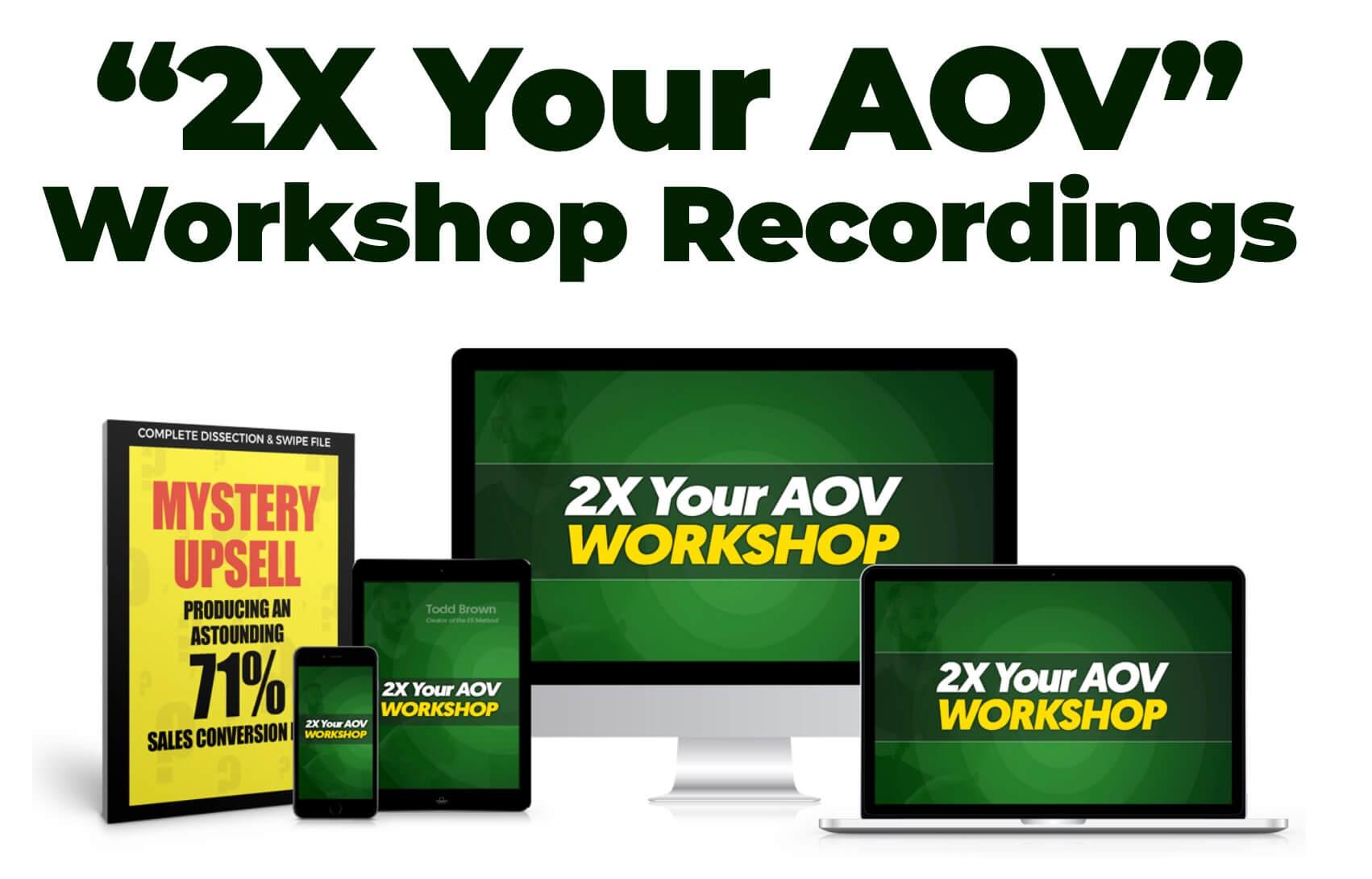 Todd Brown AOV Workshop Recordings