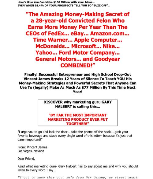 Marketing Swipe File 91121