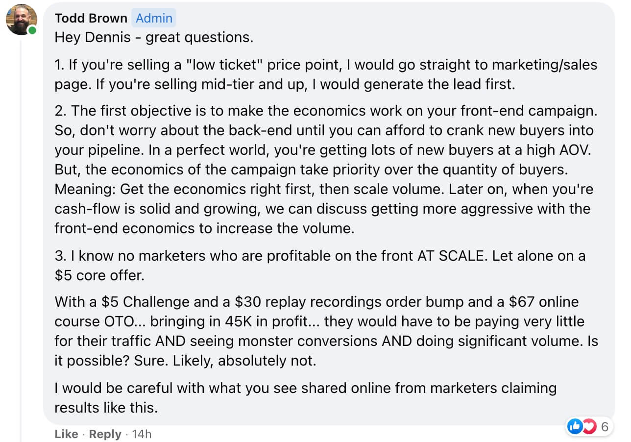 Todd Brown Marketing Answer 10121